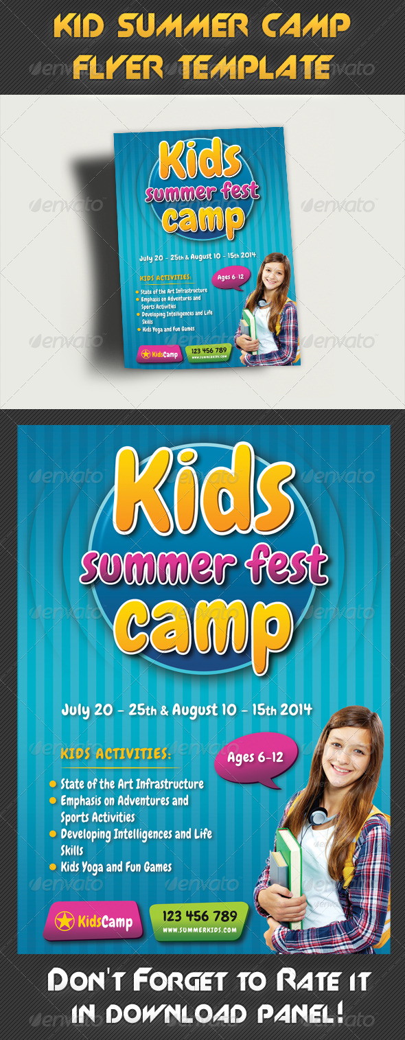 Kids Summer Camp Flyer Template 02 - Miscellaneous Events