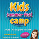 Kids Summer Camp Flyer Template 02 - GraphicRiver Item for Sale