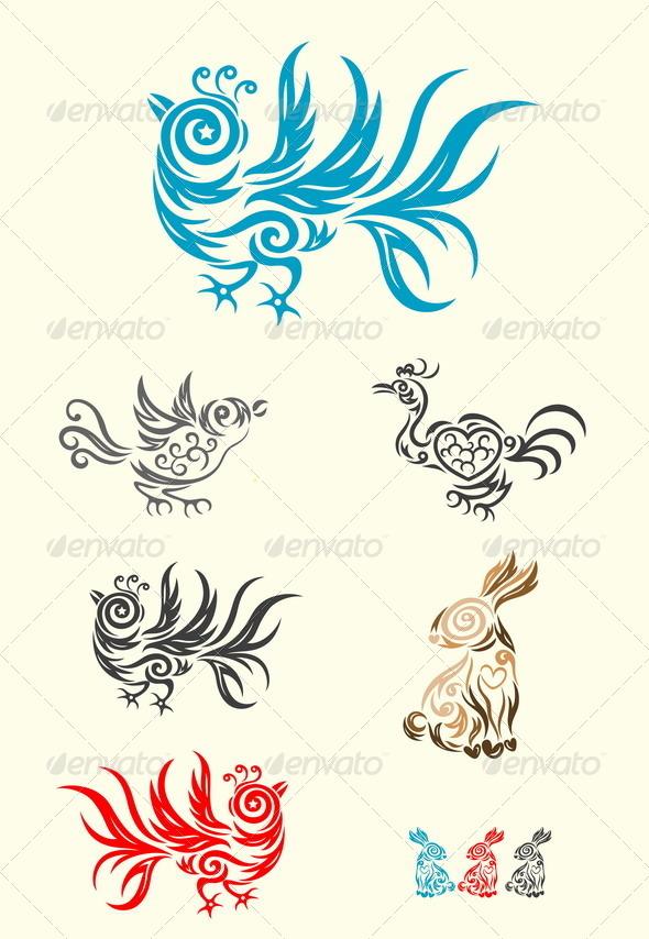 GraphicRiver Rabbit and Bird 8048128