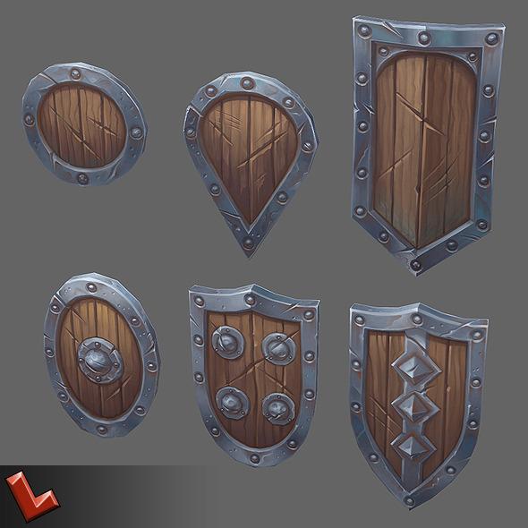 3DOcean Militia shields set 8048172