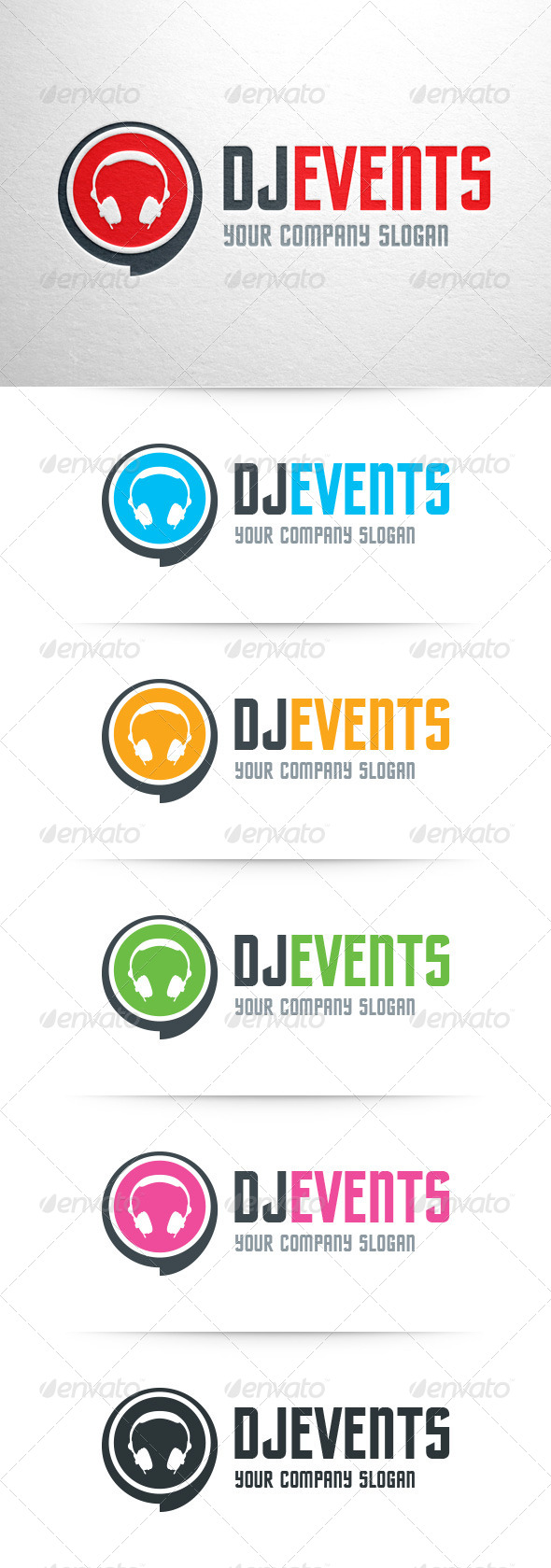 GraphicRiver DJ Events Logo Template 8048182