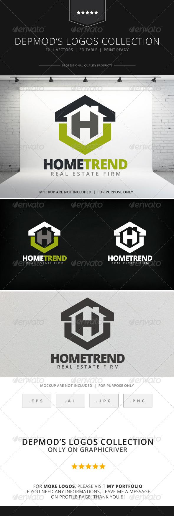 GraphicRiver Home Trend Logo 8048186