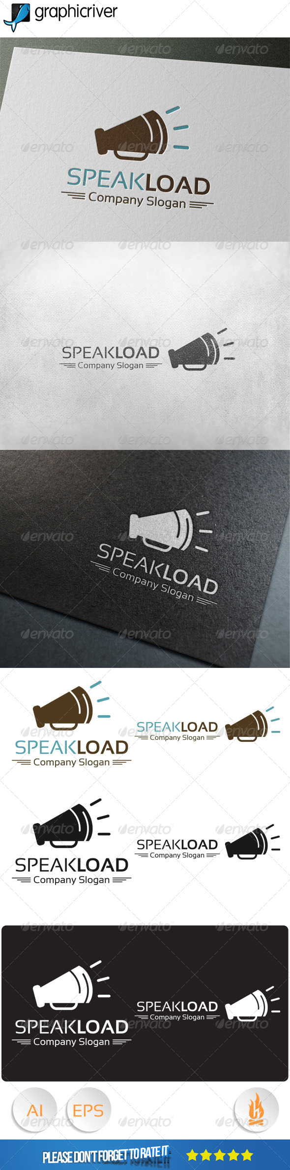 GraphicRiver Speak Load Logo 8048230