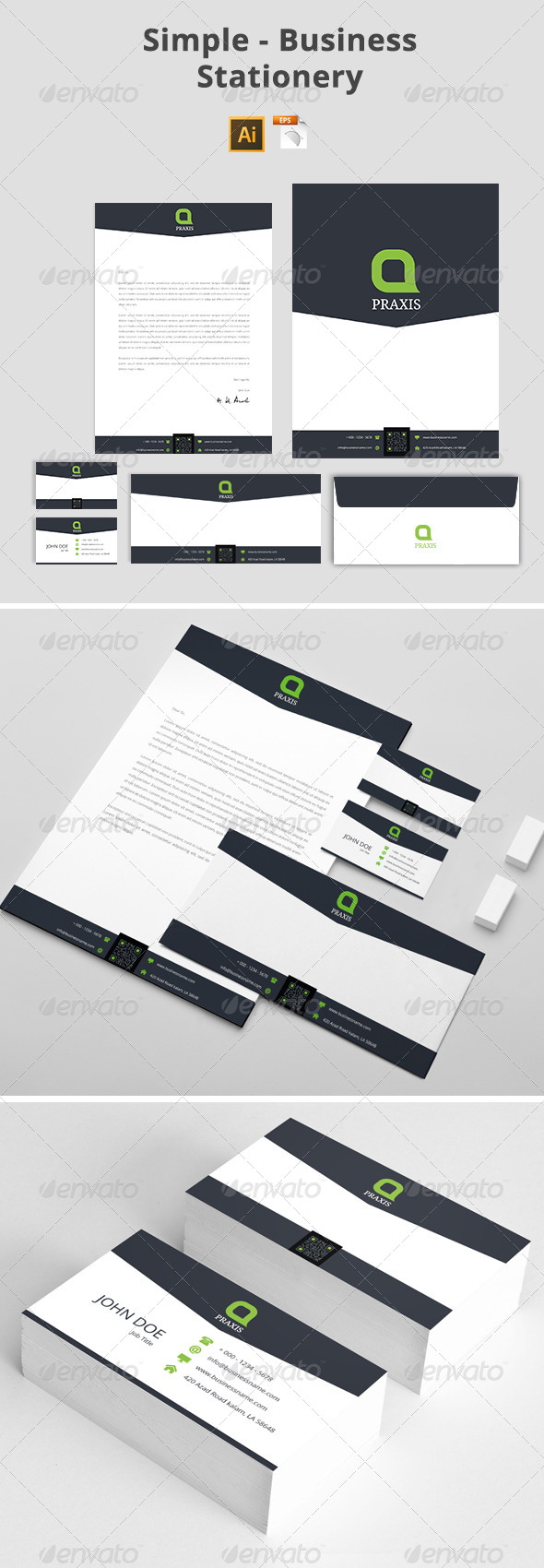 GraphicRiver Simple Business Stationery 8048234