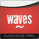 Waves Business Cards - GraphicRiver Item for Sale