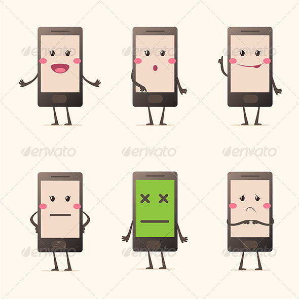 GraphicRiver Cartoon Smartphone 8048291