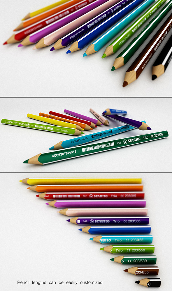 3DOcean Color Pencil Set 8048294