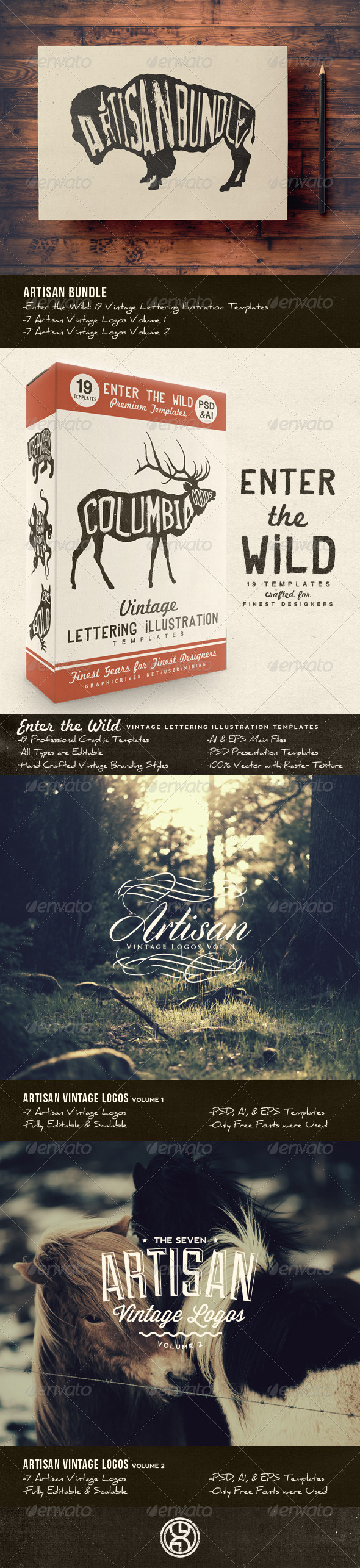 GraphicRiver Artisan Bundle 8026513