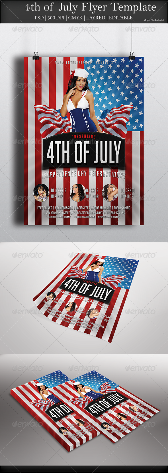 GraphicRiver 4th of July Flyer 8048306