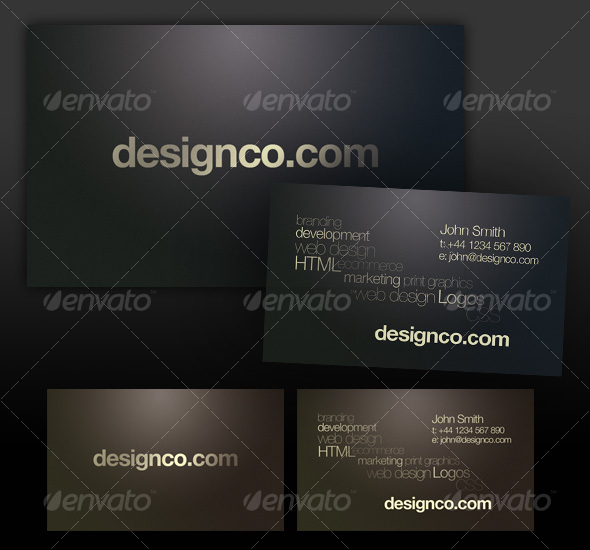 GraphicRiver Dark textured business card realistic lighting 34190