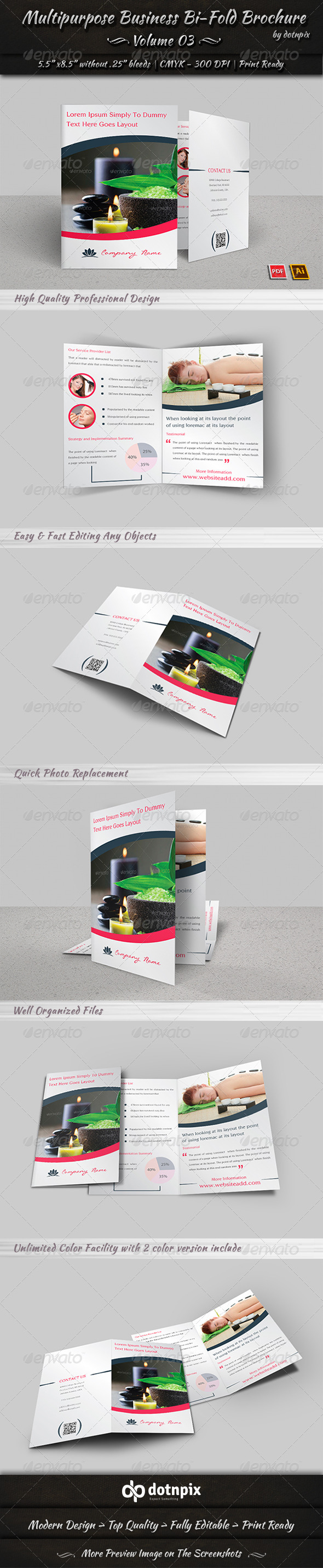 GraphicRiver Multipurpose Business Bi-Fold Brochure Volume 3 8048310