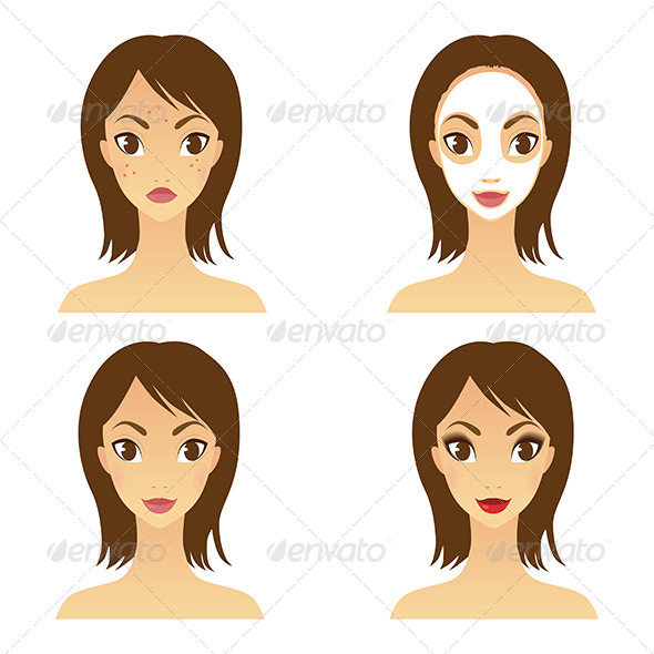 Girl Healthy Face Set