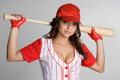 Female Baseball Player - PhotoDune Item for Sale