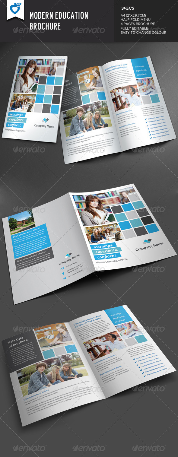 GraphicRiver Modern Education Brochure 8048361