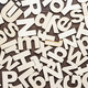 Uppercase And Lowercase Wooden Letters Background - PhotoDune Item for Sale