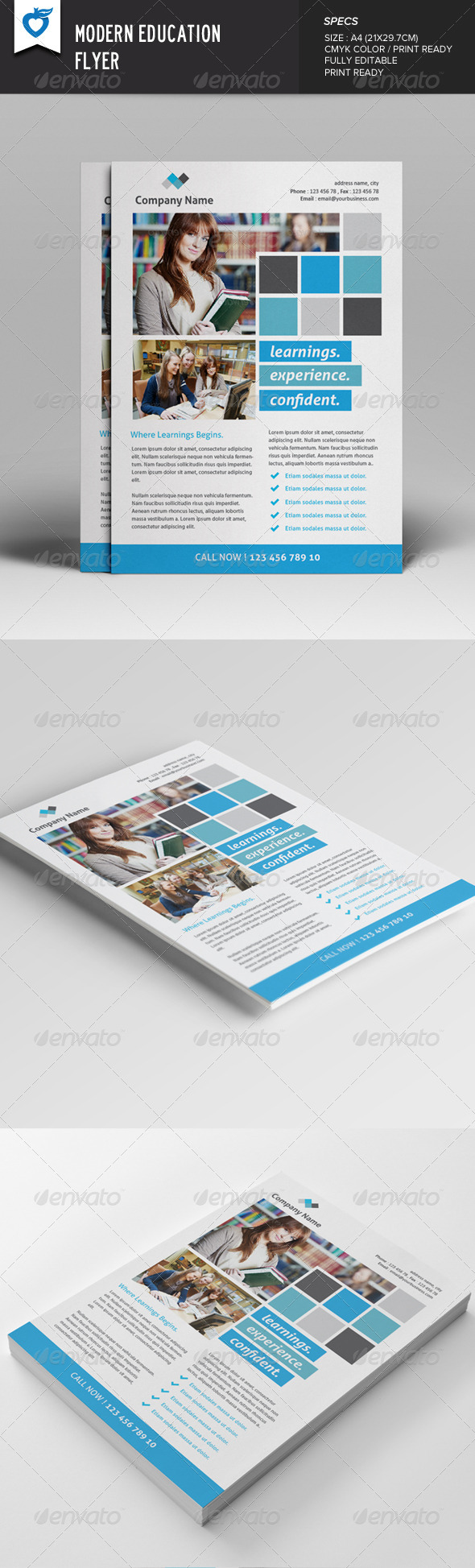 GraphicRiver Modern Education Flyer 8048621