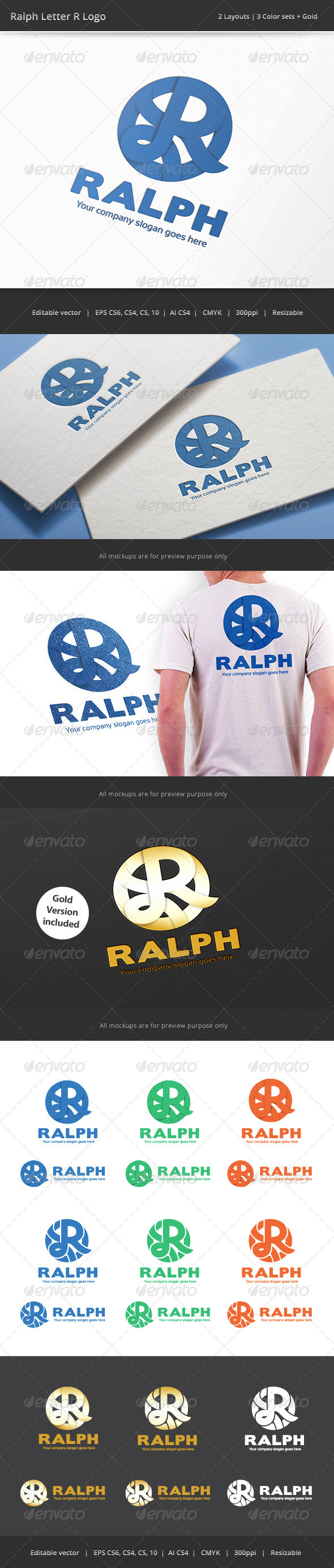 GraphicRiver Ralph Letter R Logo 8048753