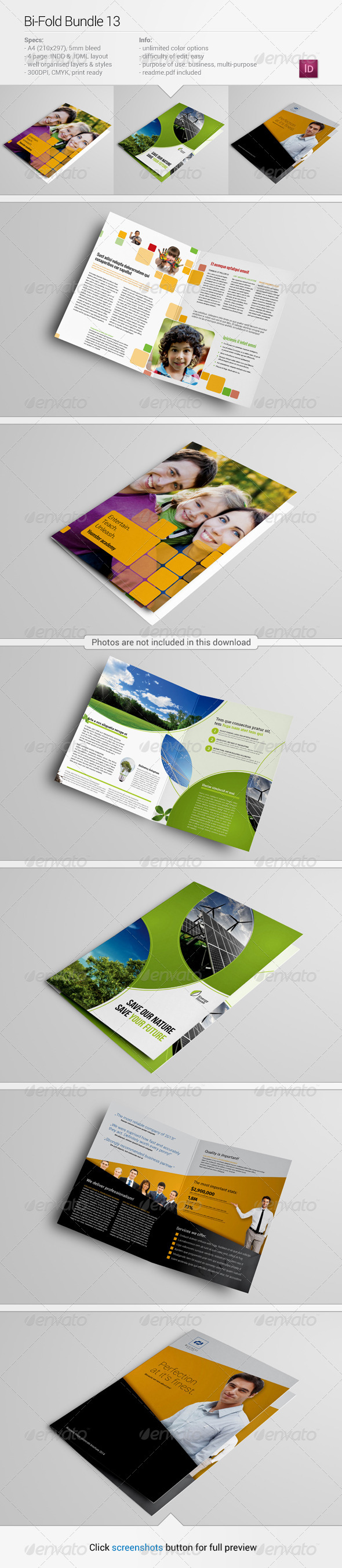 GraphicRiver Bi-Fold Bundle 13 8048756