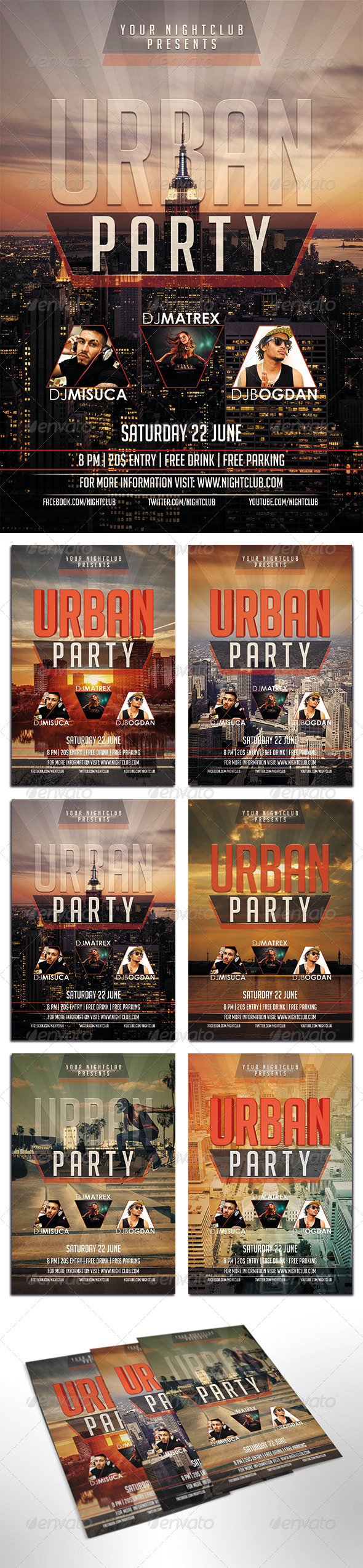GraphicRiver Urban Party Flyer 8048900