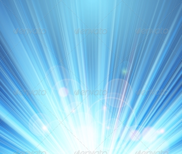 GraphicRiver Blue Shining Magic Light Background 8048954