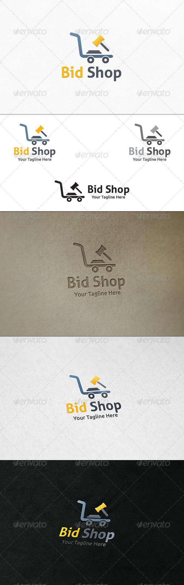 GraphicRiver Bid Shop Logo Template 8049600