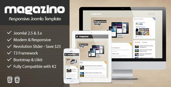 Magazino - Responsive Joomla Template - Blog / Magazine Joomla