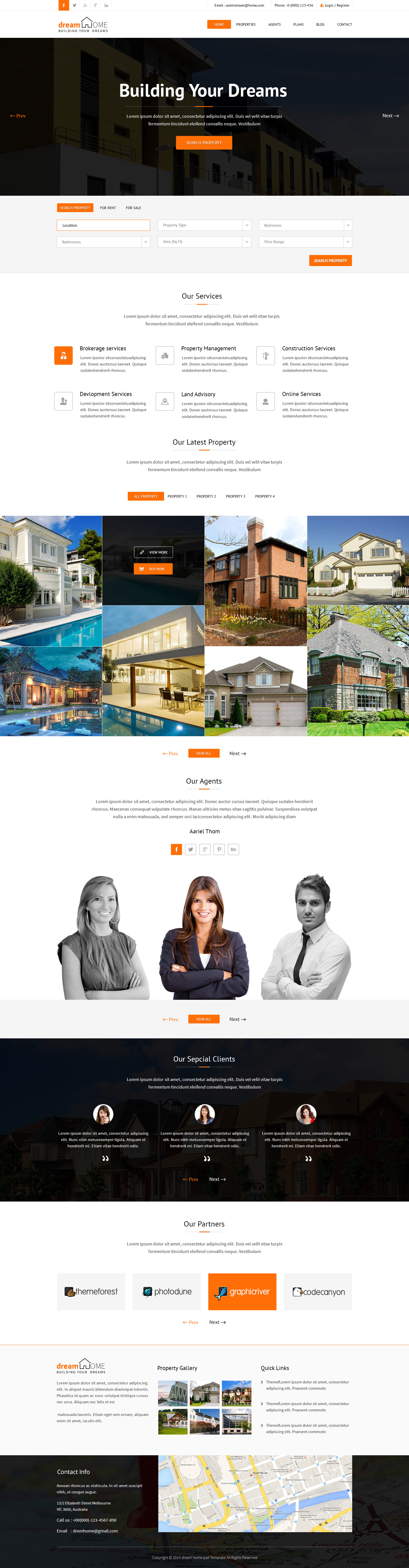 dream home real estate psd template by kamleshyadav themeforest dream home real estate psd template