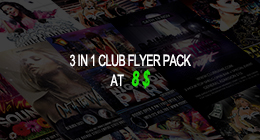 3 in 1 Club Flyer Pack