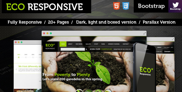 ThemeForest ECO Responsive Environment Theme 8049963