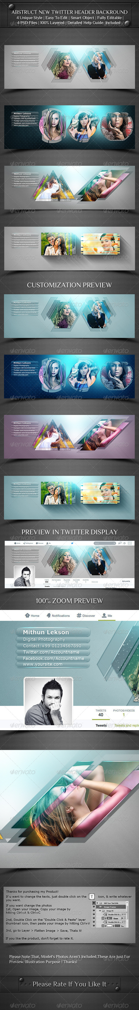 GraphicRiver Abstruct New Twitter Profile Header Backround 8050036