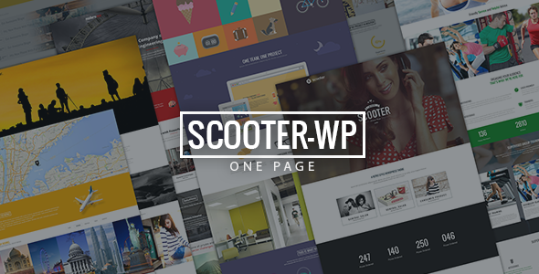 ThemeForest Scooter One Page Multi-Purpose Theme 8050209
