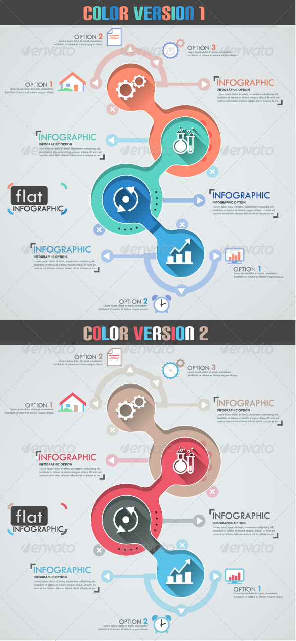 GraphicRiver Flat Infographic Template Two Versions 8050230