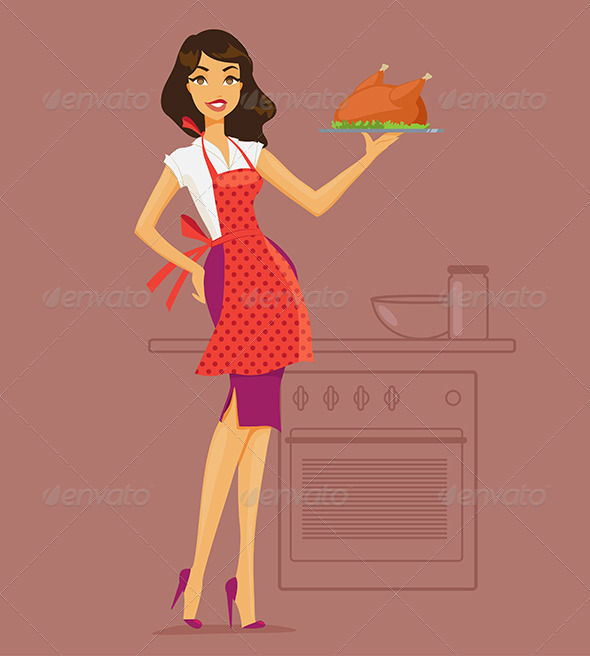 GraphicRiver Housewife Cooking 8050246