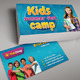 Kids Summer Camp Business Card - GraphicRiver Item for Sale