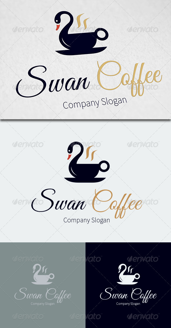 GraphicRiver Swan Coffee Logo Template 8050495