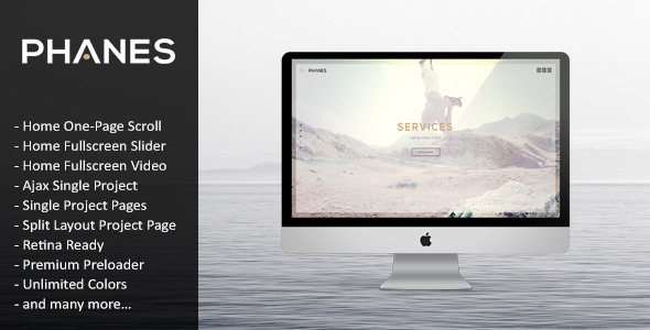 ThemeForest Phanes Responsive Unique HTML5 Template 8011750