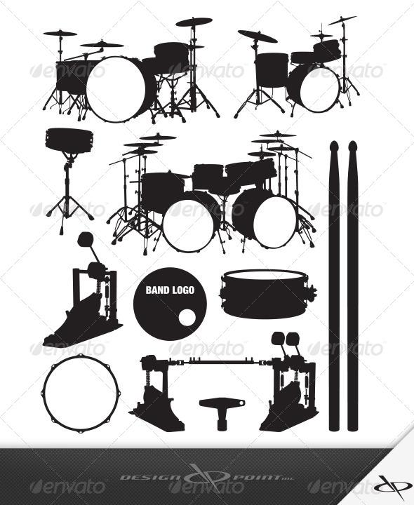 GraphicRiver Drum Set 8050661
