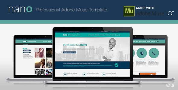 ThemeForest Nano Adobe Muse Template 8050858