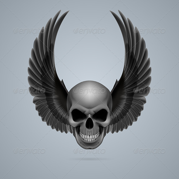 GraphicRiver Skull with Wings 8051044