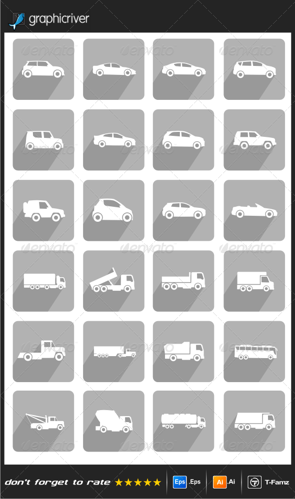 GraphicRiver Vehicle Icons 8051088