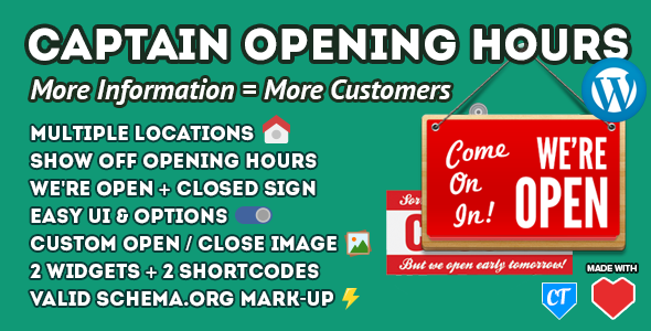 CodeCanyon Captain Opening Hours WordPress Plugin & Widget 8051120