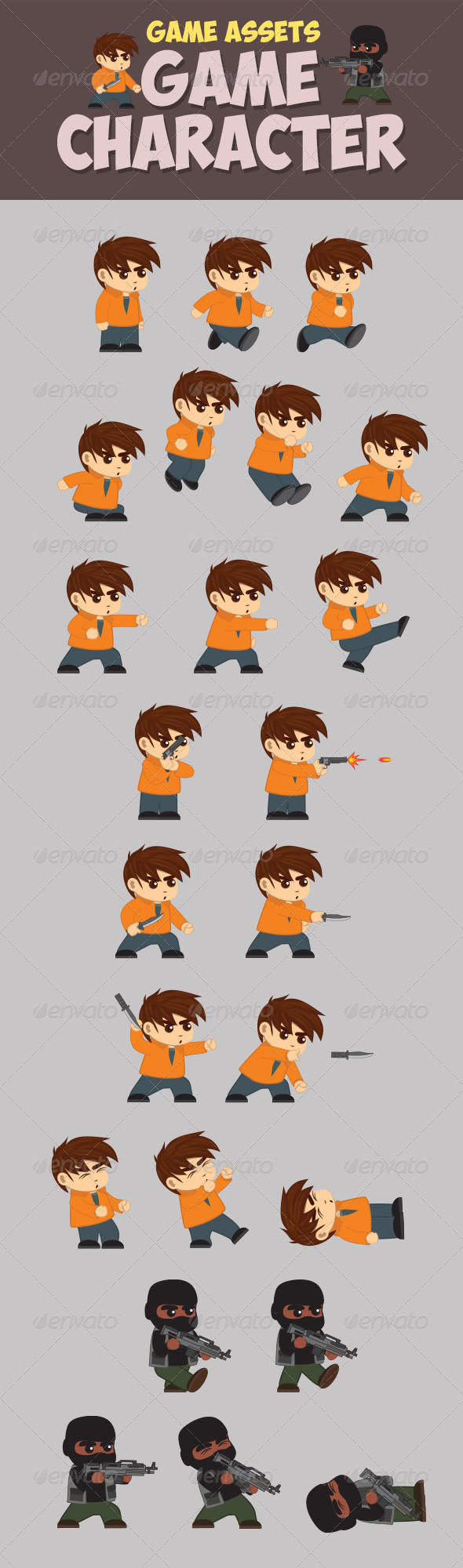GraphicRiver Game Asset Game Character 8051231