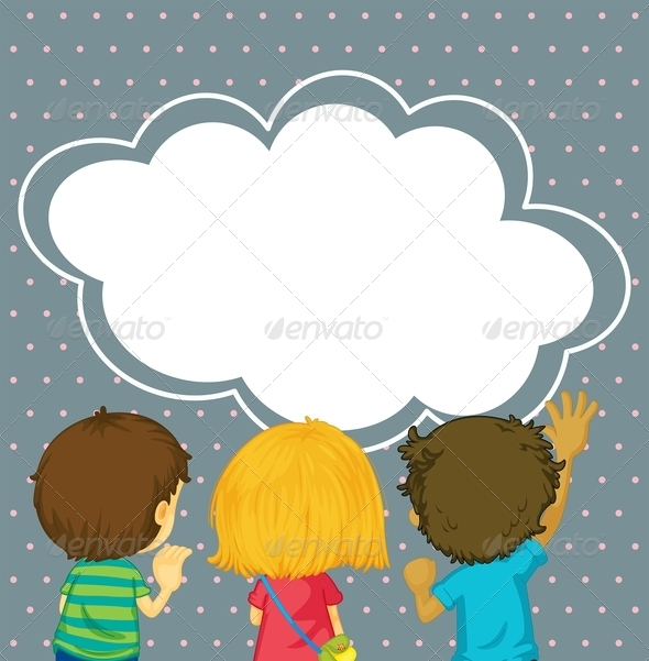 GraphicRiver Kids Watching the Empty Cloud Template 8051258