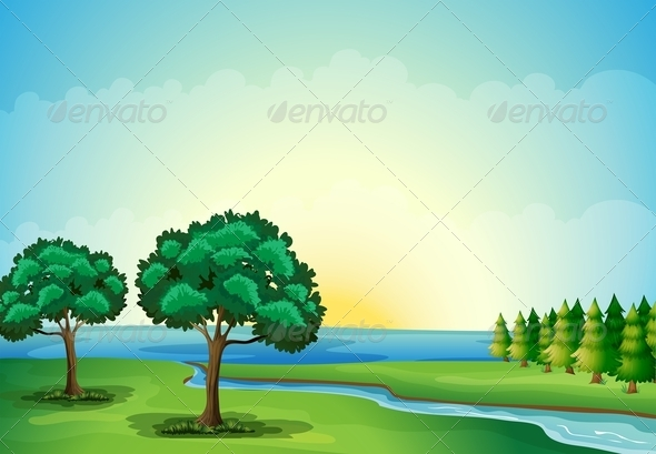 GraphicRiver A Waterform in the Forest 8051270