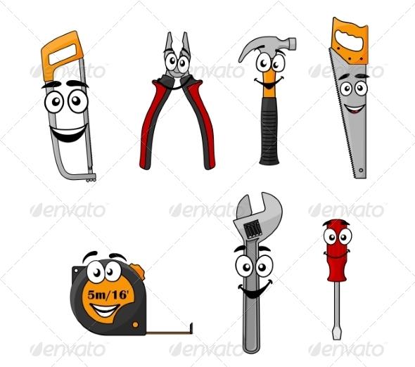GraphicRiver Set of Cartoon DIY Hand Tools 8051280