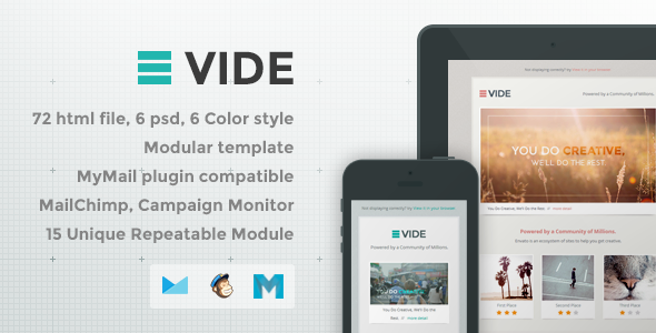 ThemeForest Vide Responsive Email Template 8051369