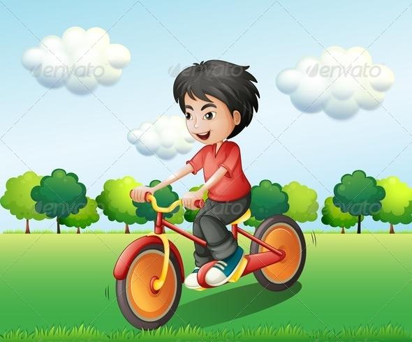 GraphicRiver Happy Boy Biking 8051382