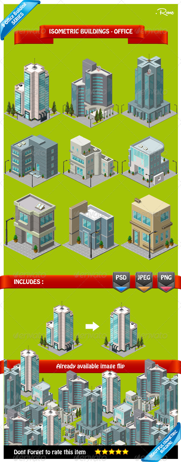 GraphicRiver Isometric Building Office 8051395