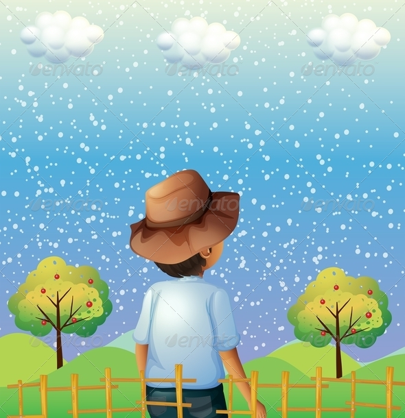 GraphicRiver Boy Watching the Snow 8051436
