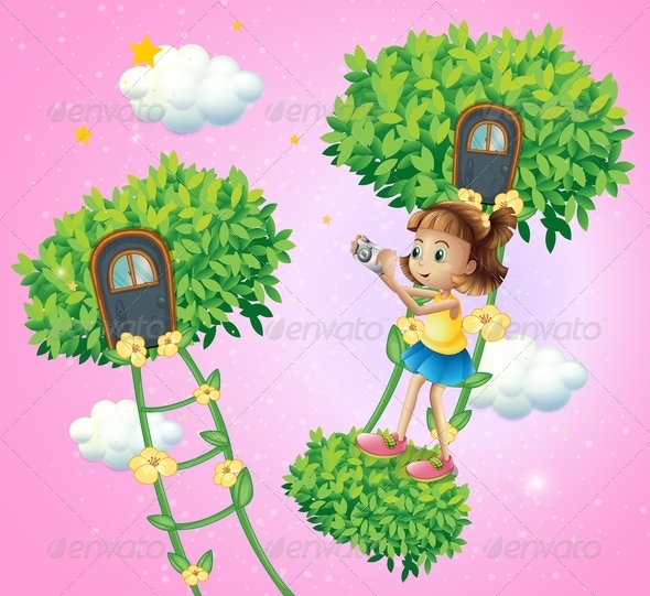 GraphicRiver Girl with Camera in Play Land 8051443